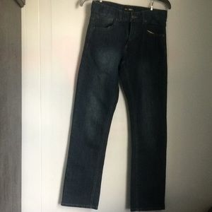 Lee boys skinny fit blue jeans size 16
